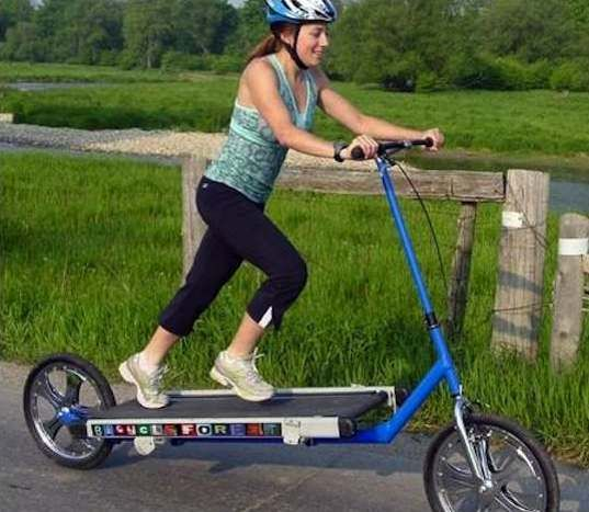 Treadmill Bike Is A Creative Workout On Wheels Good Treadmills