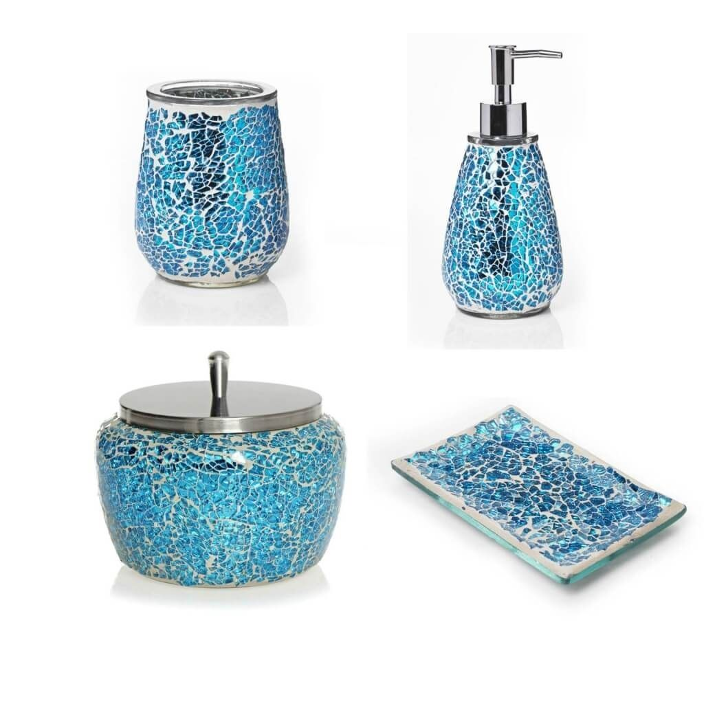 Teal Blue Bathroom Accessories