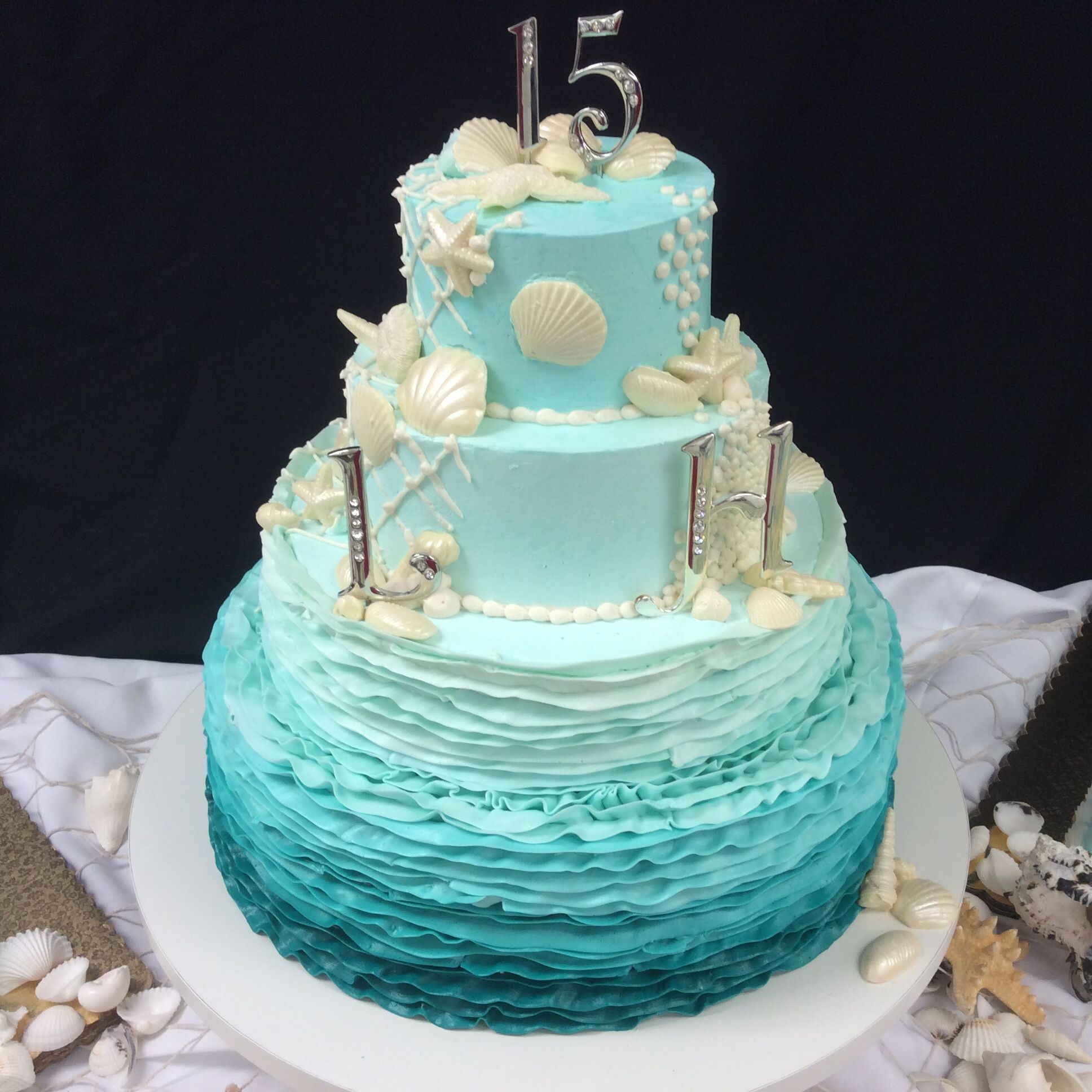 Ombre Under The Sea Teal Design 2014 Quinceanera Amp Sweet