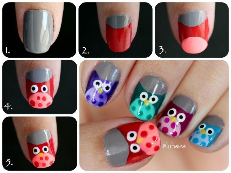 Cute Owl Nail Design Beautiful Shoes Random Stuff I Like