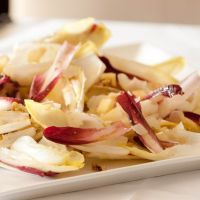 Witlof Salad with apple and walnuts | Add some raisins too