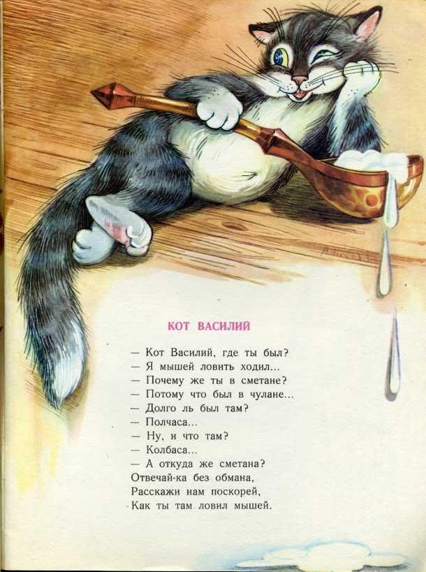 Папе, смешные стихи про кошек в картинках