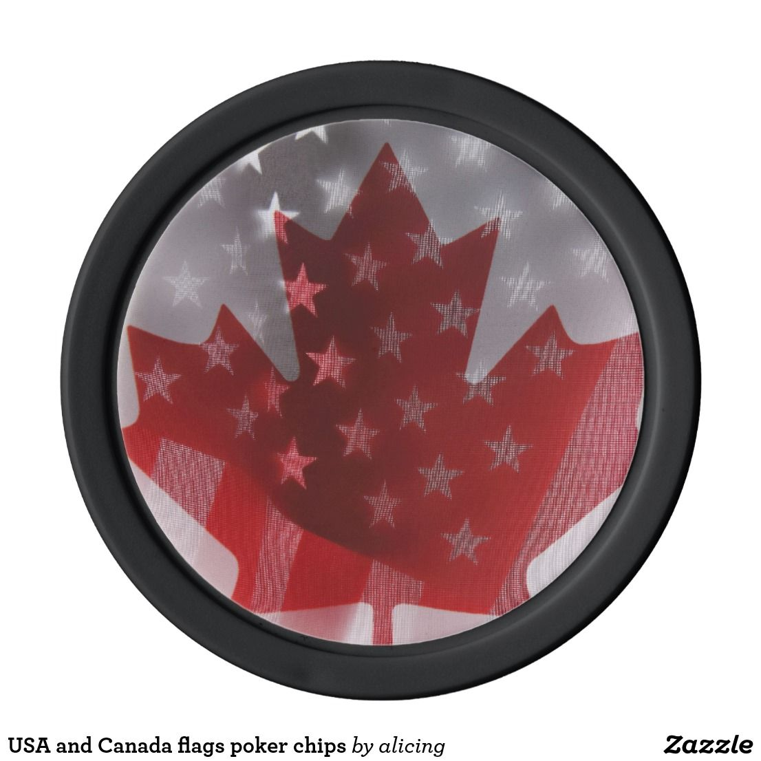 USA And Canada Flags Poker Chips