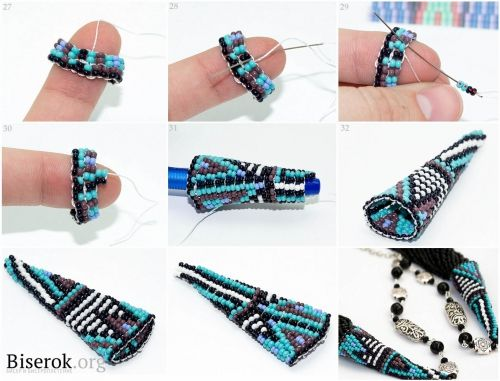 Beading A Cone Cap Tutorial In Russian Love This It S