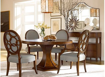 Delightful The Drexel Heritage Giasana Collection In This Dining Room Was Inspired By  Couture Fashion. Detailed