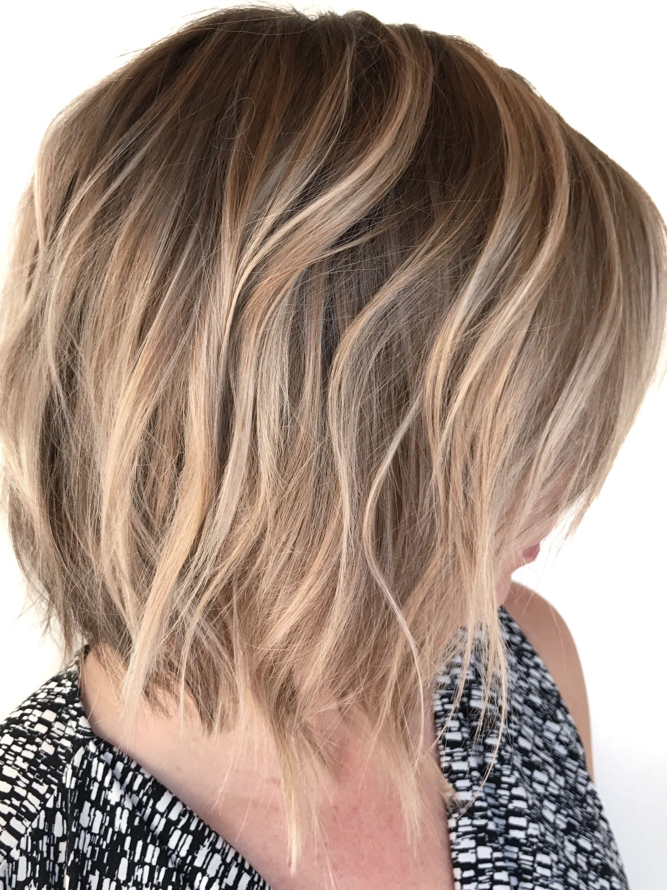 Blonde Balayage Natural Blonde Highlights Short Hair Balayage