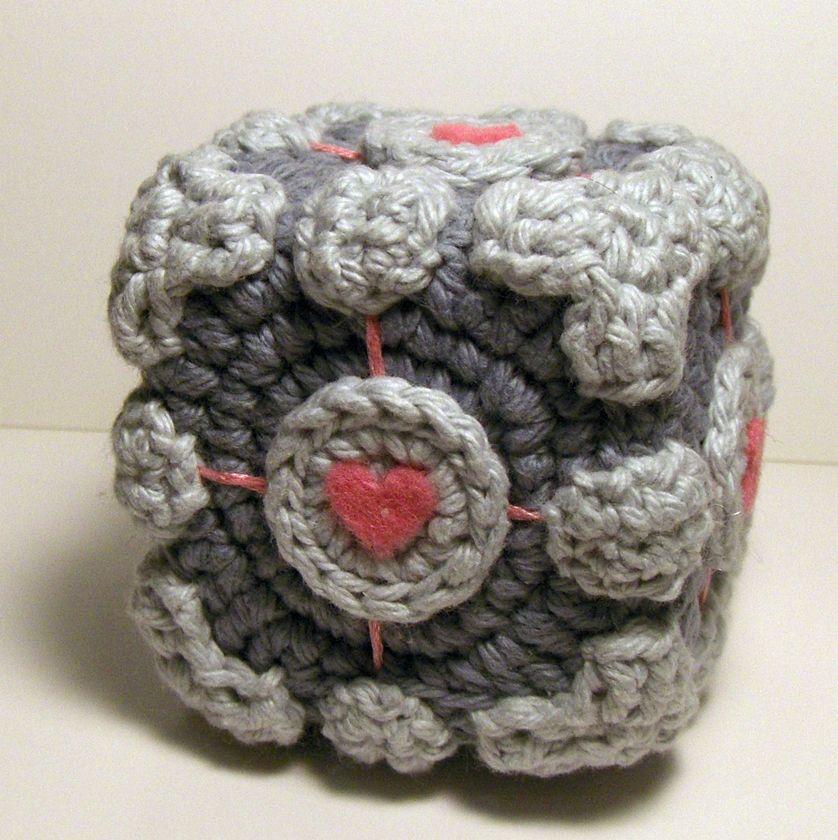 Free Cute Portal Companion Cube Amigurumi Pattern Nerdigurumi