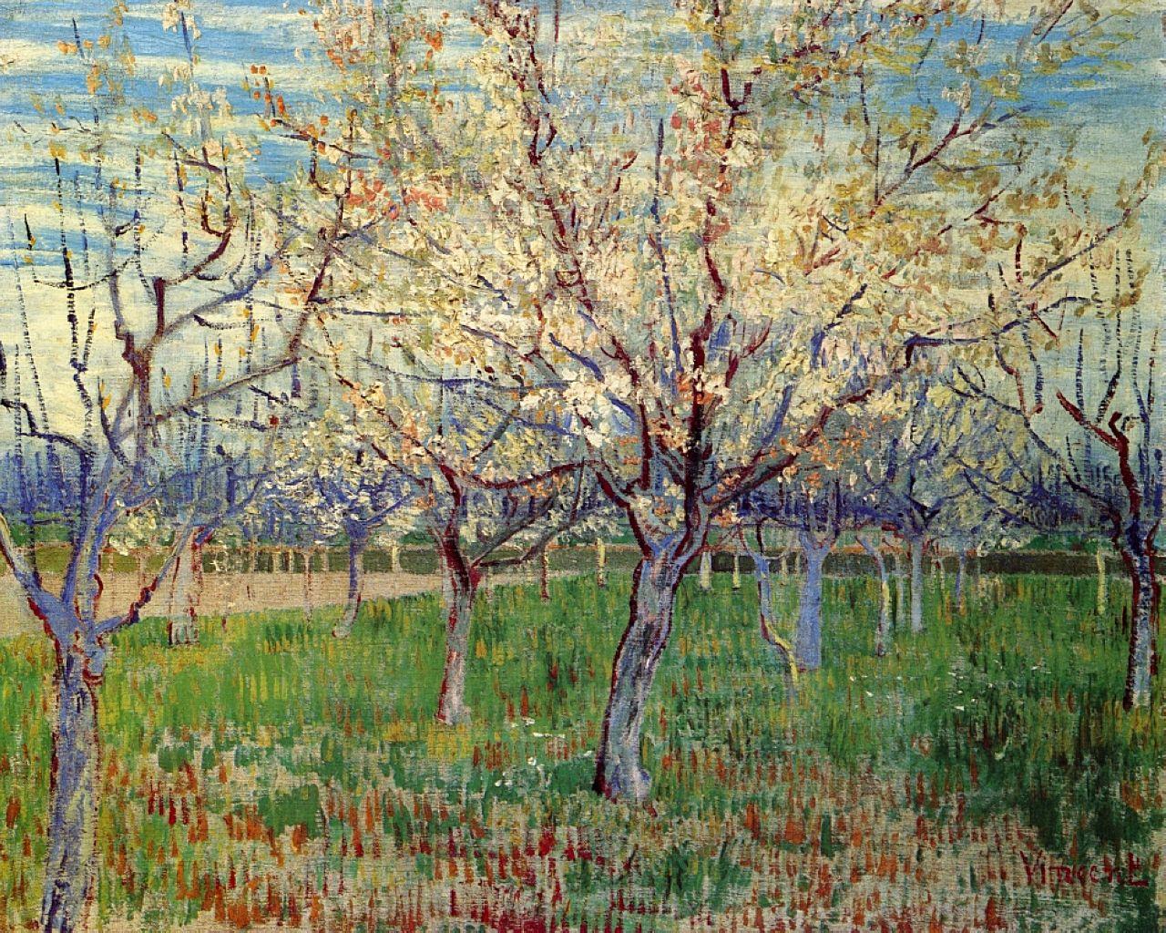 Blossoming, Vincent van Gogh,  c. 1887-1889