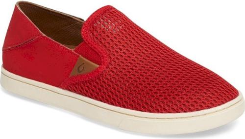 Olukai 'Pehuea' Slip-On Sneaker in Red | Red Slip On Sneakers