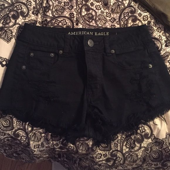 high rise festival shorts! perfect condition so cute! American Eagle Outfitters Shorts Jean Shorts