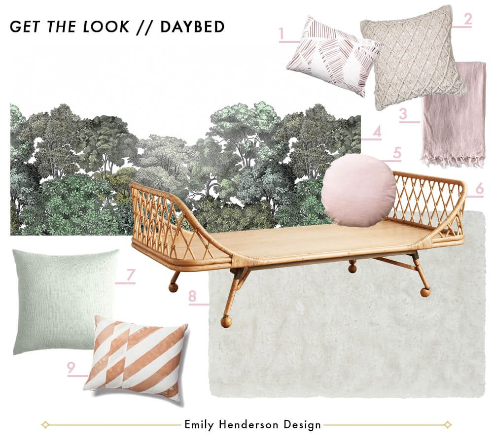How To Style A Twin Bed Like A Sofa Or Daybed Shop The Look Emily Henderson Twin Bed Couch Twin Bed Bed Styling