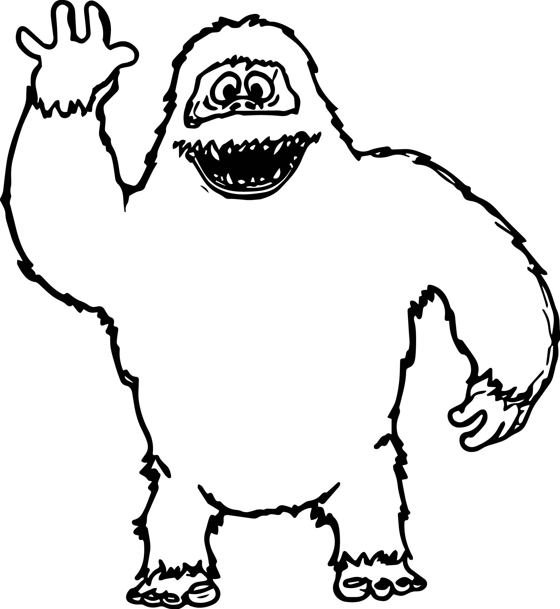 Cool Abominable Snowman Hello Coloring Page Rudolph Coloring