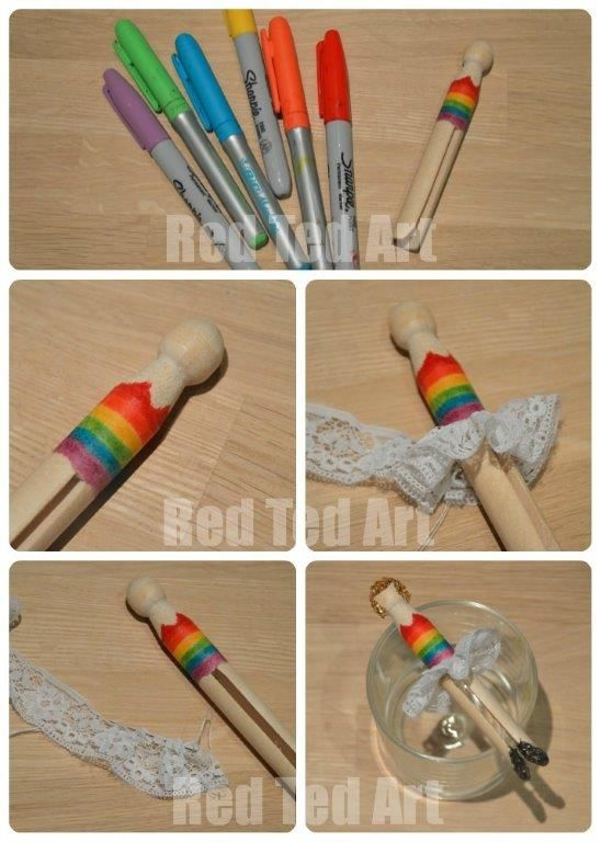 Rainbow Fairy Dolly Pegs Weekend Crafts With Kids Rainbow