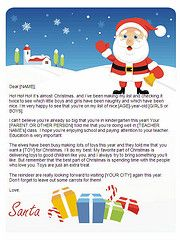 Santa letters to print  gifts design  Letters from Santa