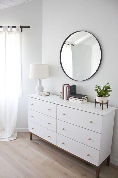 Modern White Dresser A West Elm Inspired Ikea Hack Customisation