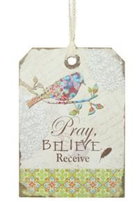 Pray, Believe, Receive Wall Sign   Walk By Faith Collection #homedecor