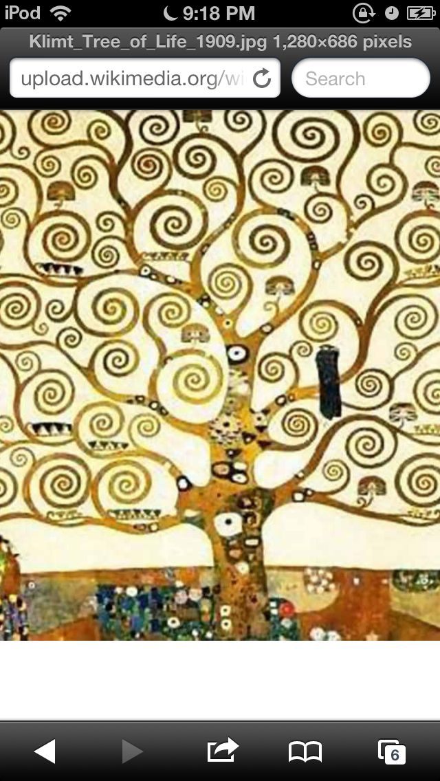 The tree of life! By Klimt  Someone please get me a necklace with a tree of life :)