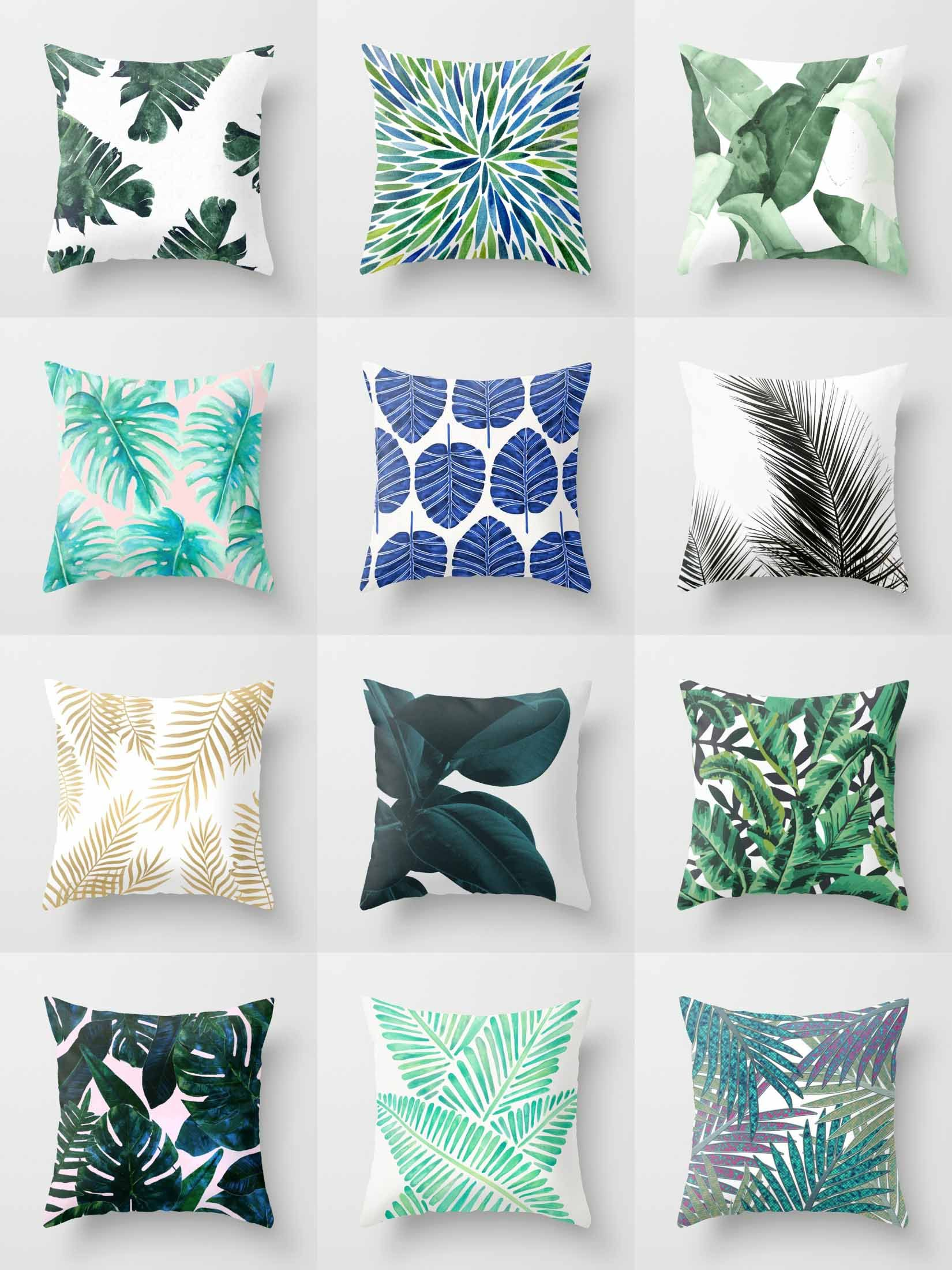 Society6 Leafy Throw Pillows - Society6 is home to ...