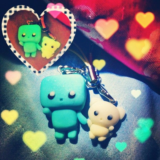 Made this Robot and Kitty out of polymer clay for my