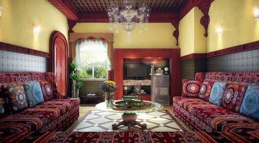 Moroccan Living Room Ideas peachy pink moroccan living room