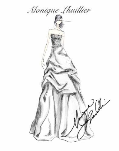 Vestido de novia - boceto Monique Lhuillier