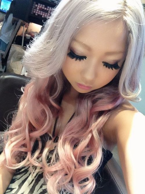 Love These Lashes Hairmakeup Pinterest Gyaru Silver Hair And