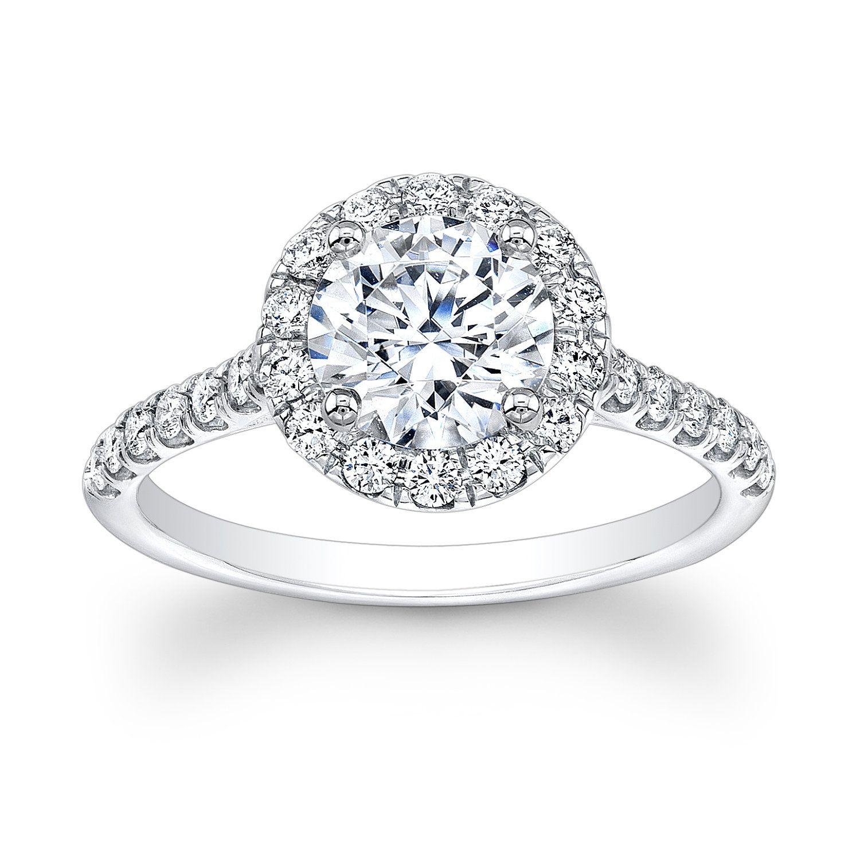 La s 14kt diamond engagement ring with 1 50ct round white