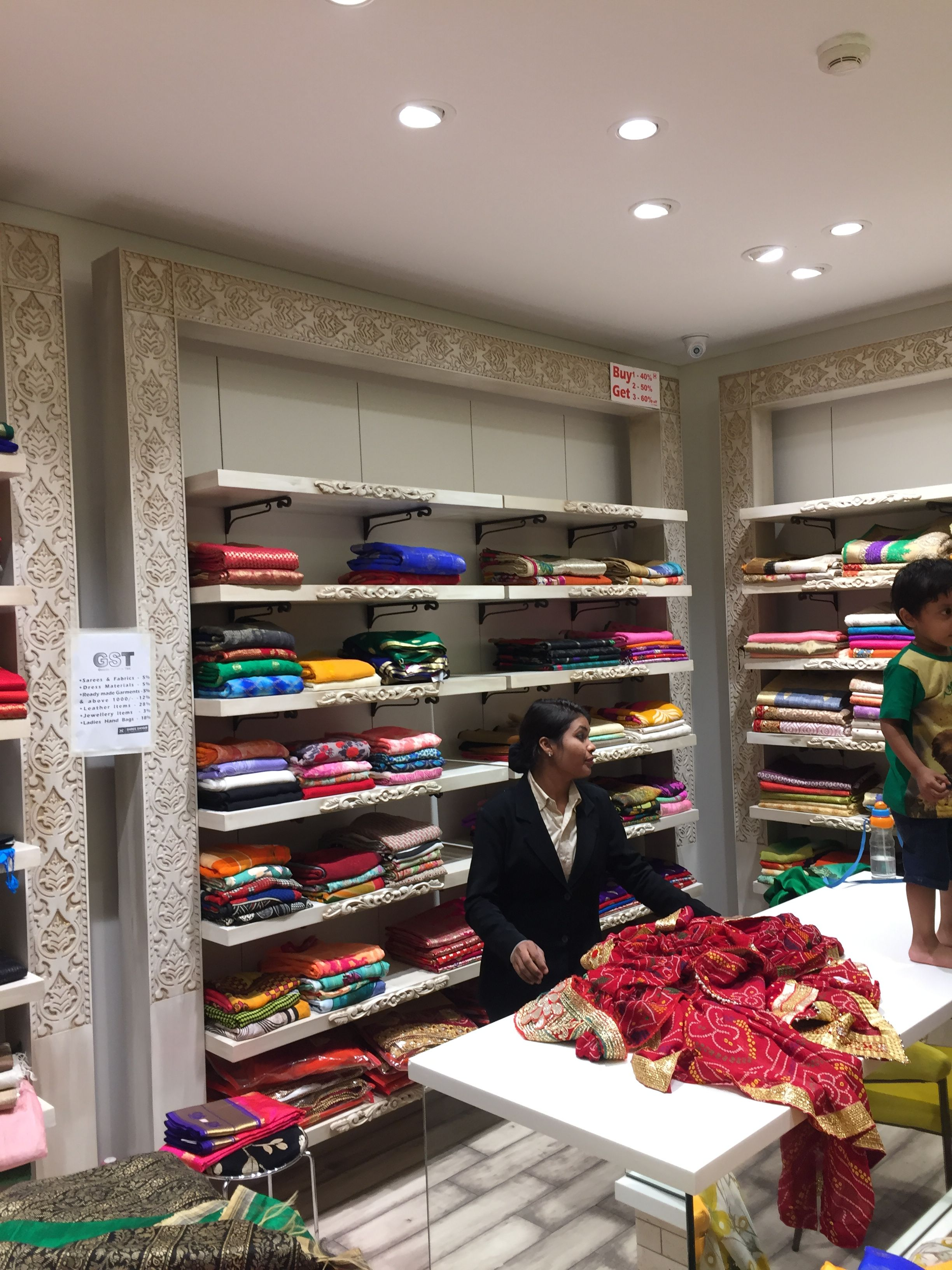 sari display | luxury closets design, boutique interior