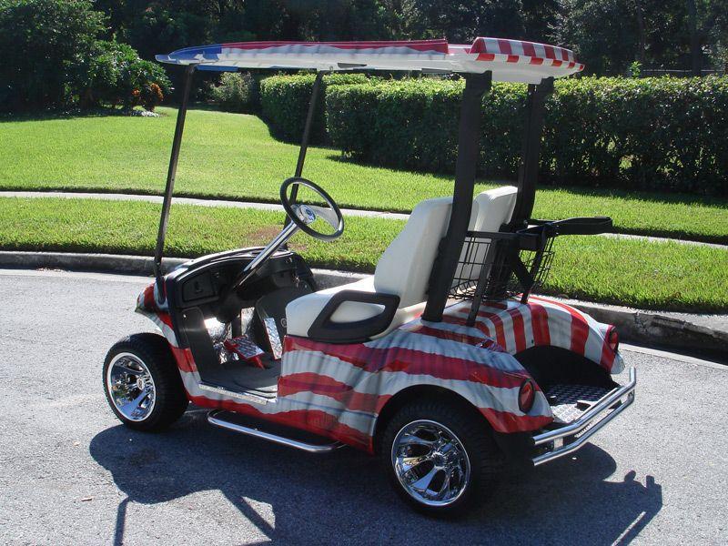 Patriotic golf Custom Golf Cars Custom Golf Carts