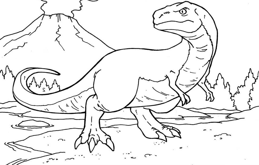 Dinosaurs With Sharp Nails Coloring Pages For Kids B51 Printable Dinosaurs Coloring Pages For Kids