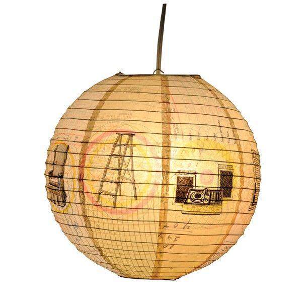 lanterne en papier boule japonaise retro lanternes. Black Bedroom Furniture Sets. Home Design Ideas