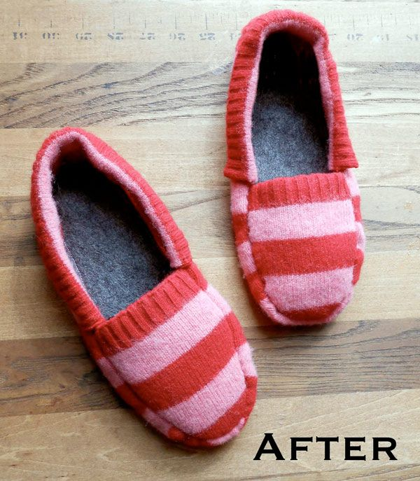 des chaussons coudre dans un pull couture pinterest old sweater recycled sweaters et. Black Bedroom Furniture Sets. Home Design Ideas
