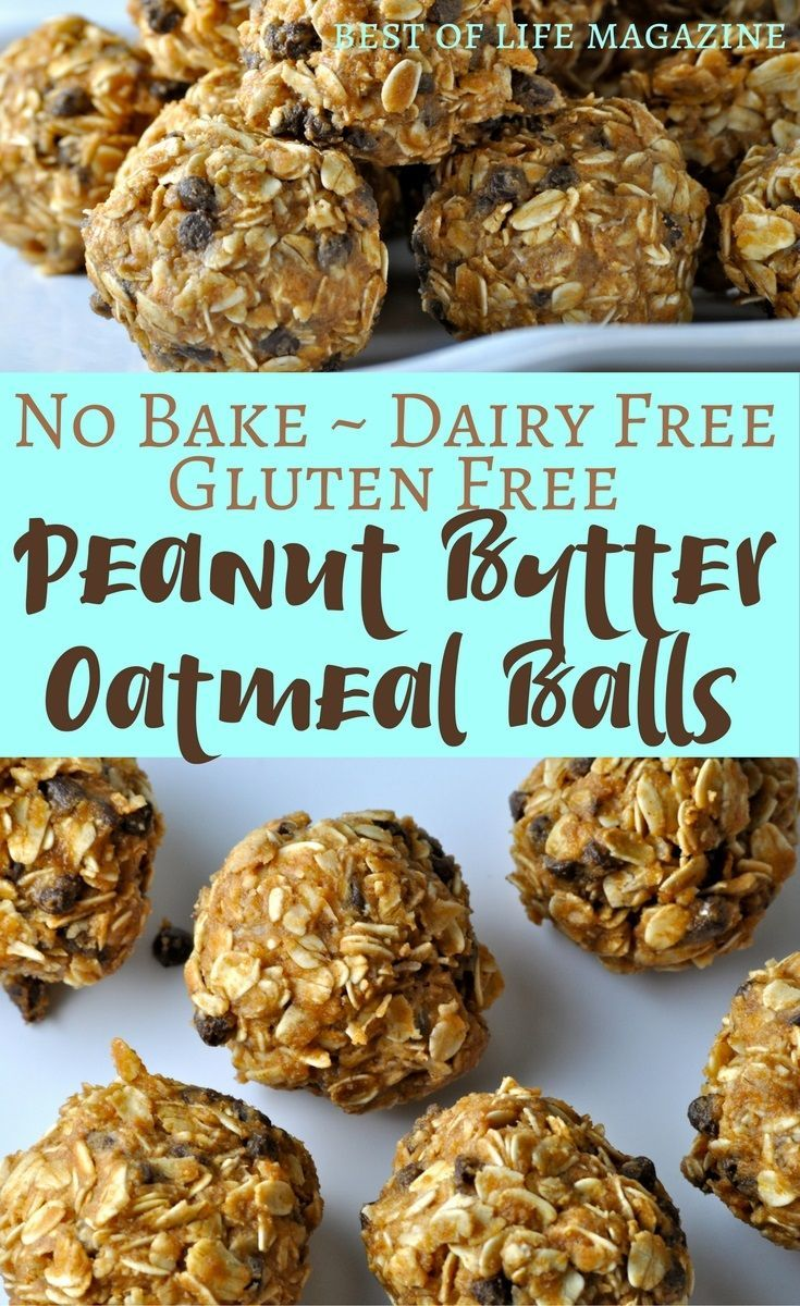 This no bake peanut butter oatmeal balls recipe is gluten