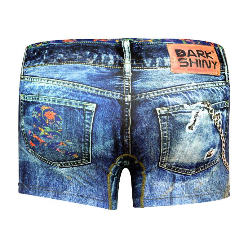 Men's Boxer Pants-Denim Blue, backprint メンズファッション アンダーウェア ボクサーパンツ #darkshiny #mensfashion #boxerbrief