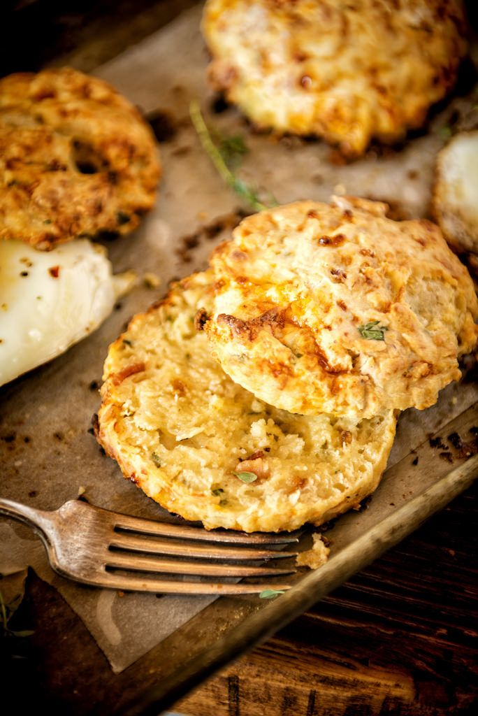 Herb And Bacon Cottage Cheese Biscuits Recipe Cheese Biscuits