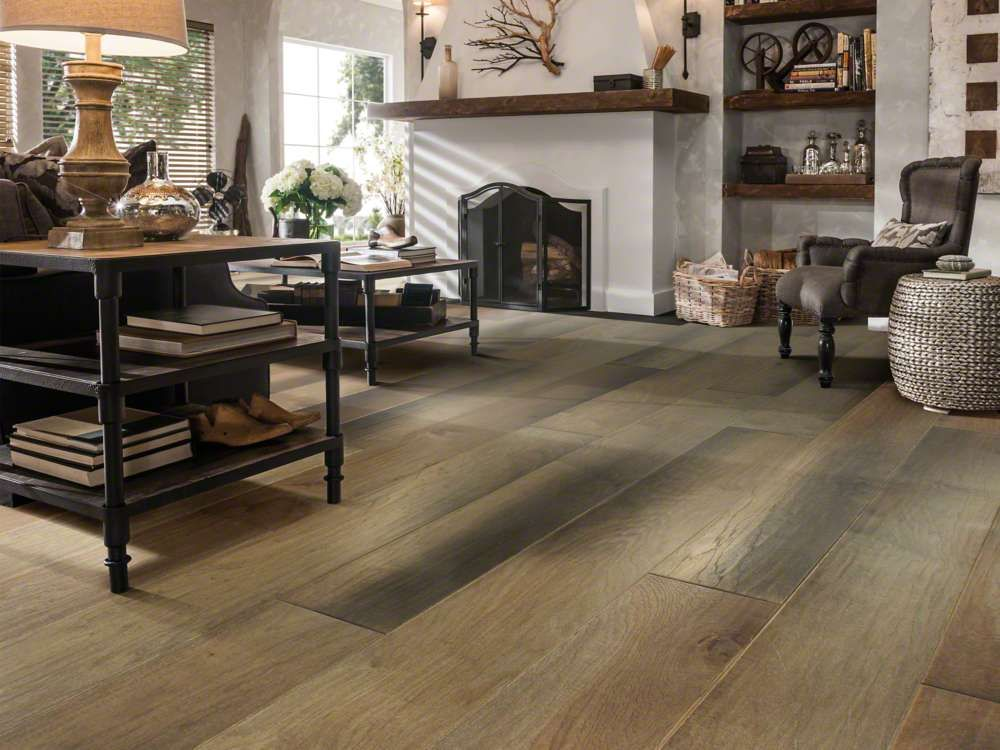 Shaw Epic Plus Landmark Hickory Scraped 9 25 X Random Engineered Hardwood Room Scene Canyonlands Home Decor Shaw Flooring Natural Home Decor