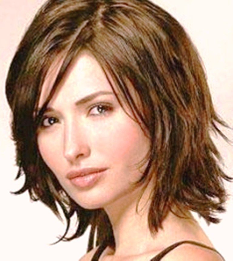 Hairstyles For Thick Hair Dailymotion : Medium layered bob haircut choppy hairstyles for