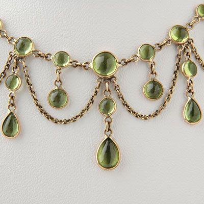 Victorian peridot necklace antique style gold special order victorian peridot necklace antique style gold special order aloadofball Images