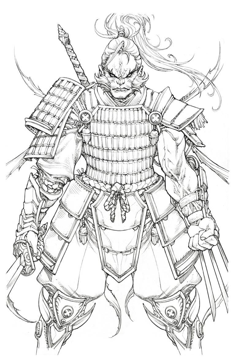 Samurai Wolverine By Paolo Pantalena Samurai Desenho Desenhos