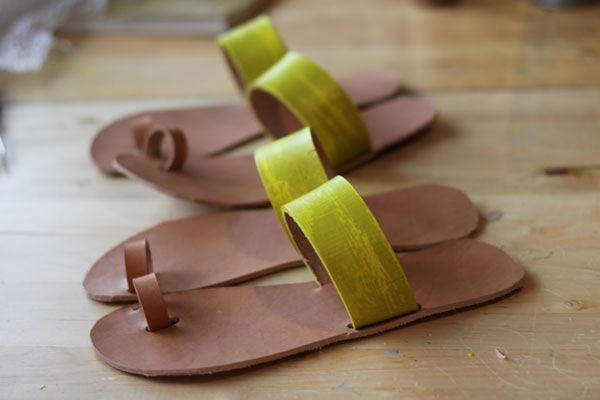 Sandalmaking Afternoon — Duo Fiberworks - wet formed leather: