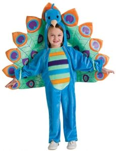 Special Kids Peacock Costume For Party Girls Kindergarten Dance Show Party Character Day Costume Wing Toys Colours Are Striking Home