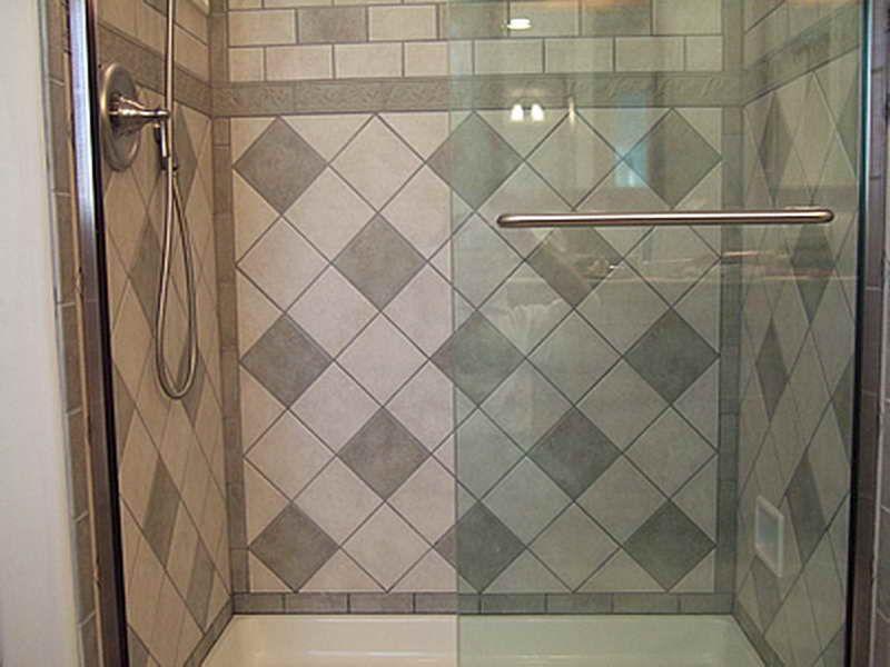 Bathroom Ceramic Tile Design Impressive Bath Wall Tile Designs With Big Mozaic Design ~ Httplanewstalk Decorating Design