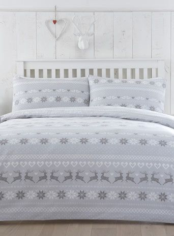 Brushed Cotton Fairisle Bedding Set | Decorating rustic modern ...