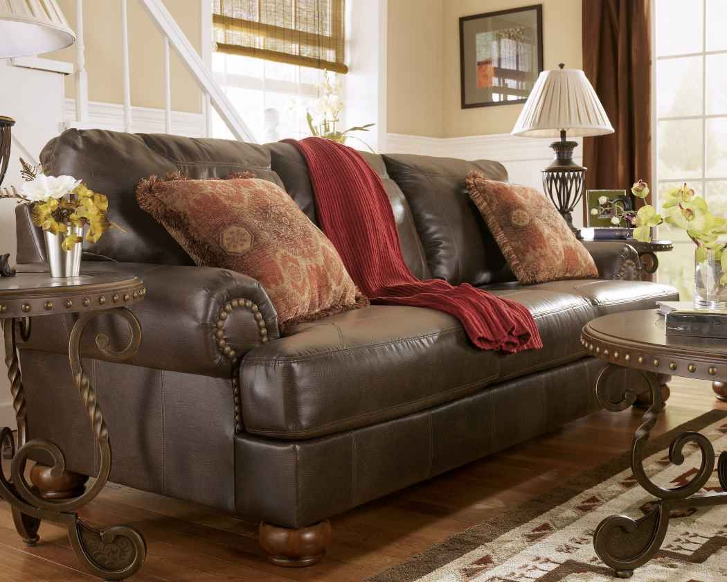 Rustic Leather Living Room Furniture Sets Training4green