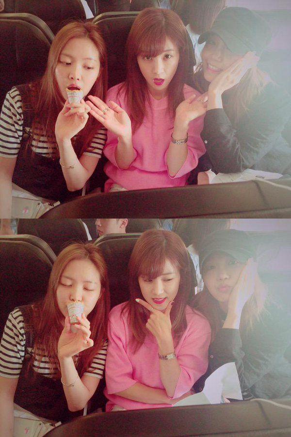 Naeun, Chorong y Eunji de Apink
