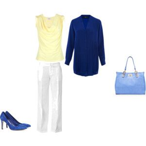 Cool Summer: citrone yellow with navy
