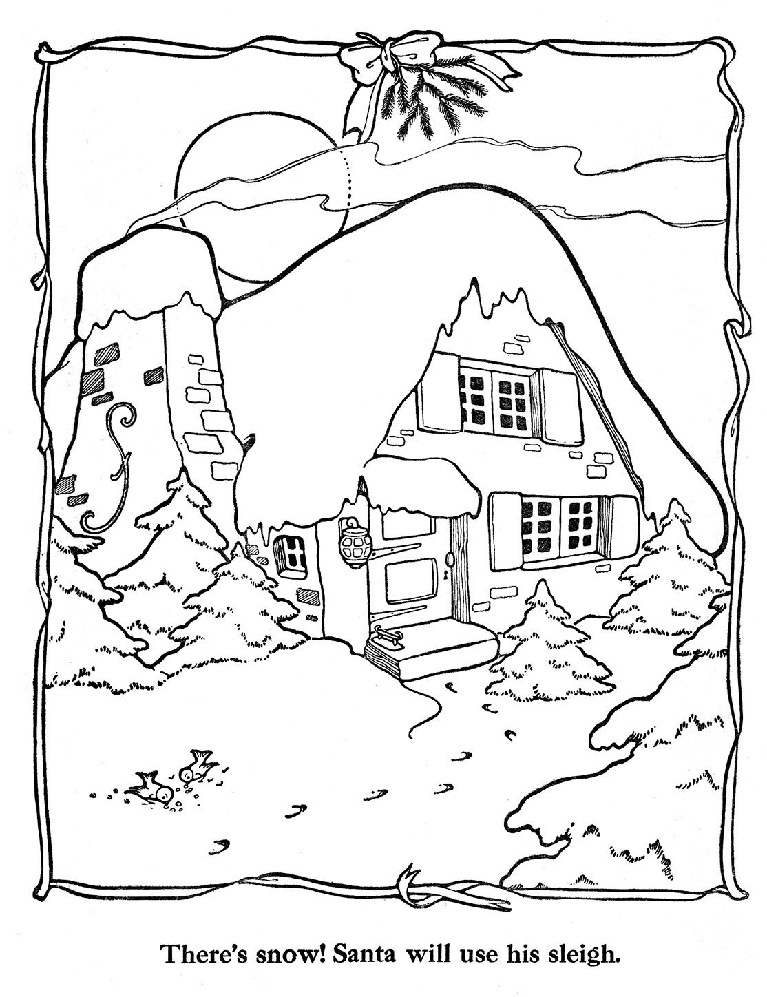Coloring pictures merry christmas - Merry Christmas Paint Book 11