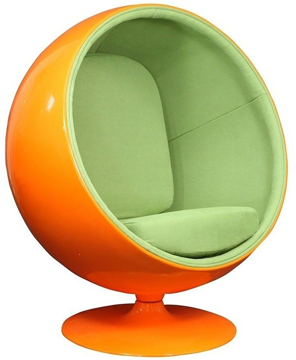 Charmant The Well Appointed House Retro Round Egg Chair In Orange And Green