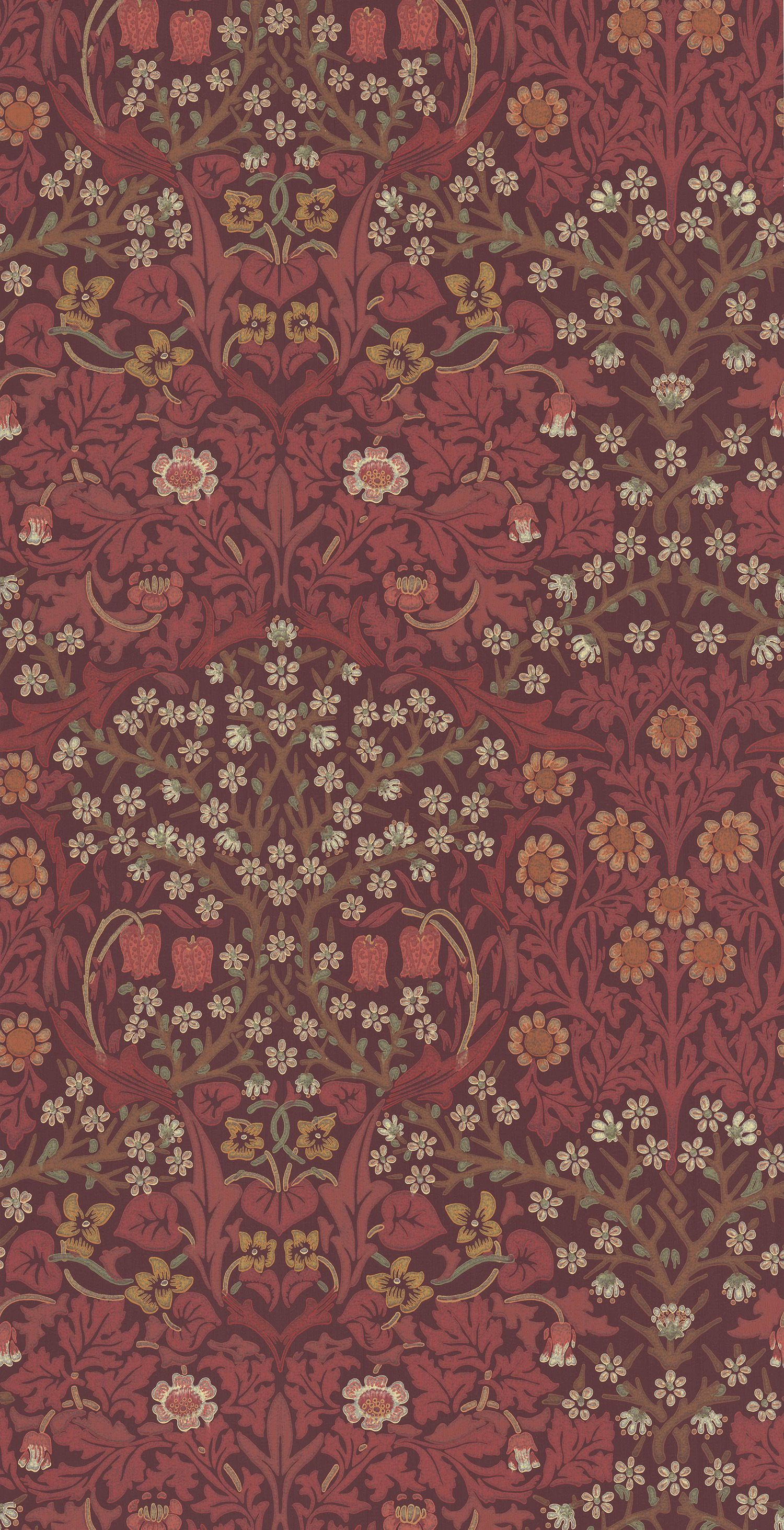 Blackthorn Russet tapet från William Morris & Co
