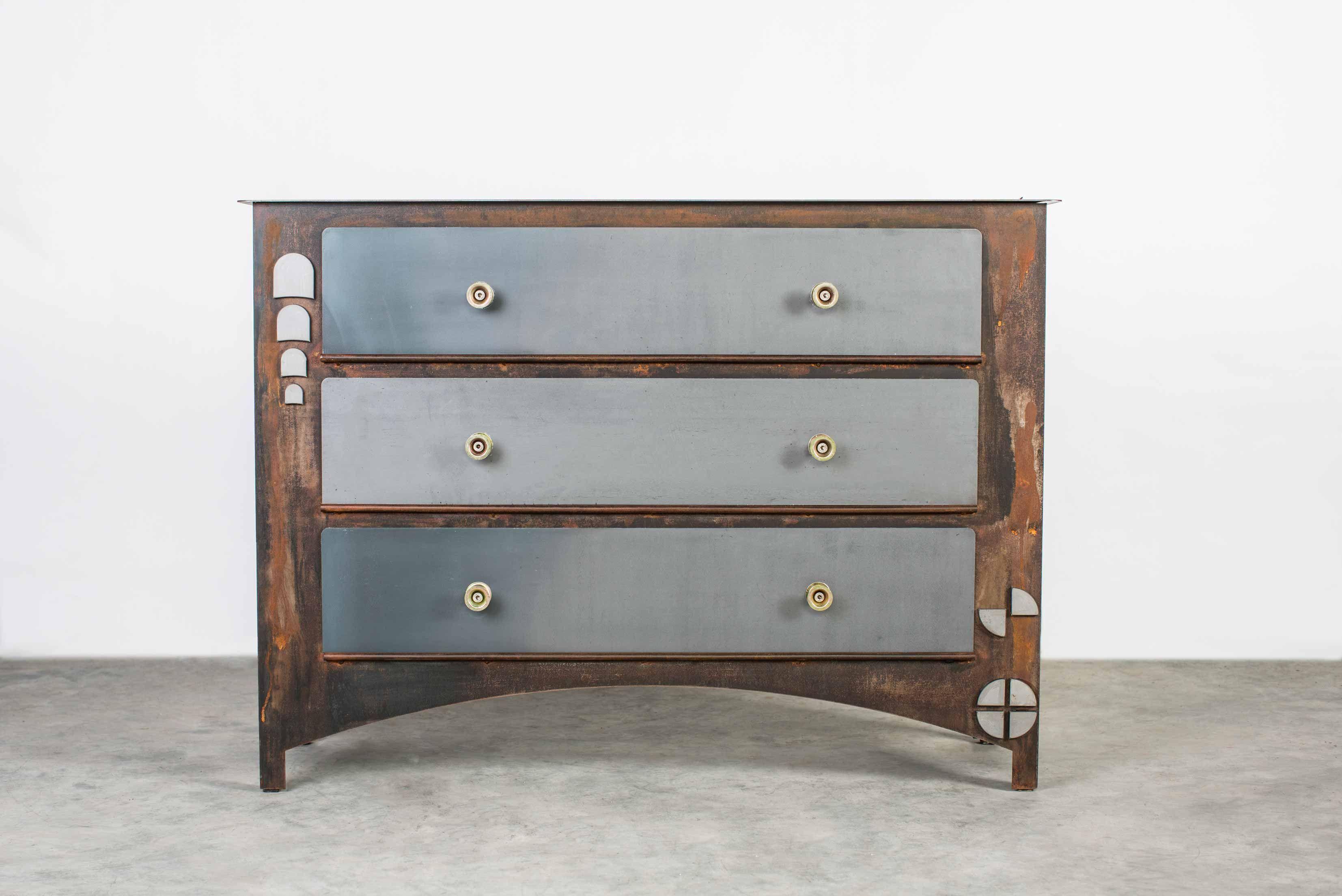 Meuble acier design bureau bois et acier moderne meuble de